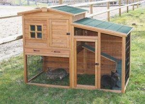 Patrový domek pro králíky Fortuna s krytým výběhem, králíkárna, kurník pro slepice